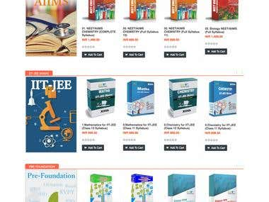 eCommerce website for Selling education materials