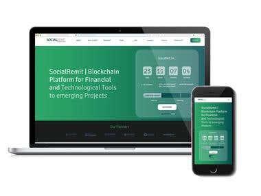 Social Remit - web design