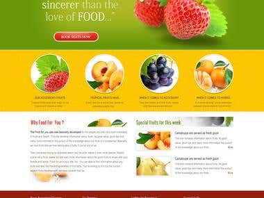 Psd to HTML5 and CSS3 Template