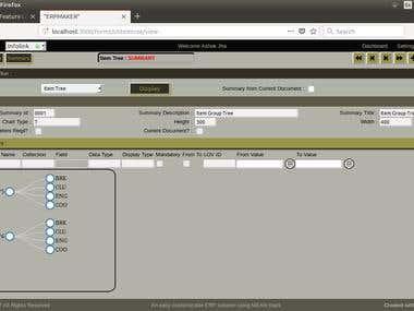 A Representative screen shot of application SCRUD feature.