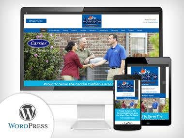 WordPress - Air Conditioning Company Website