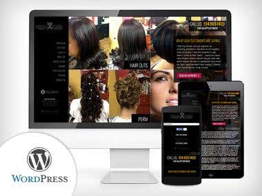 WordPress - Hair Cut & Salon Website for Women/Men