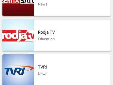 LiveTV android app
