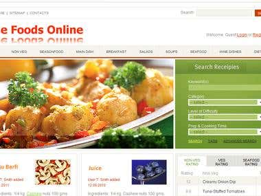 We created the site - thefoodsonline.com