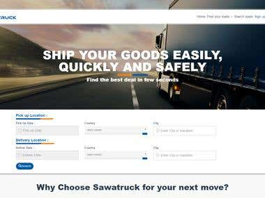SawaTruck Delivery Website - ASP.NET