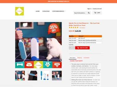Pet Sales Website - Shopify