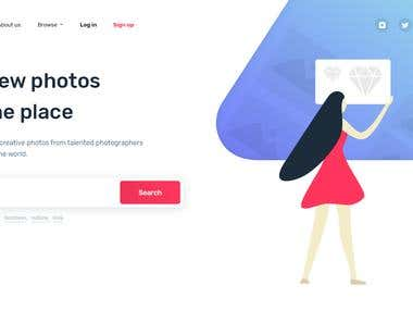 Concept for a photostock website