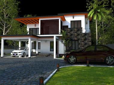 Exterior Design for a Villa