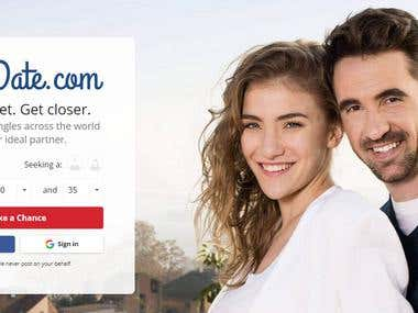 Dating site between man and woman