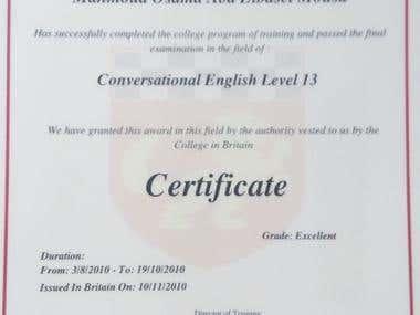My English language Certificates