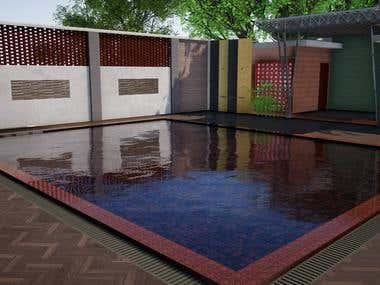 Swimming pool render