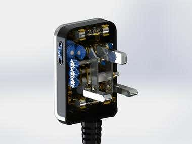 Fordable Power Plug