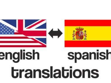 I will translate spanish to english and viceversa