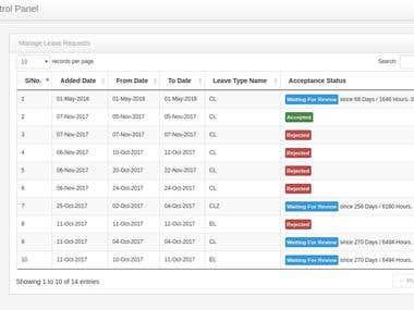 Full Fledged ERP Web Application