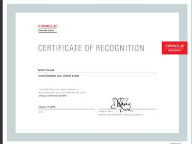 Oracle Certified SQL Expert
