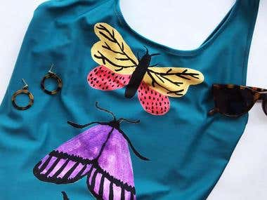 Butterfly design for swimsuit