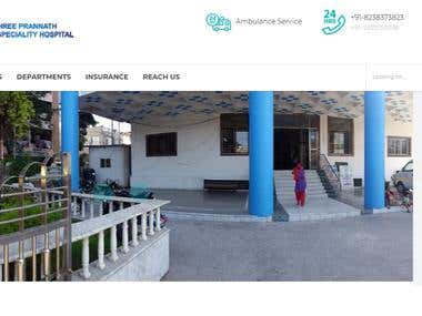 Prannath Hospital Website