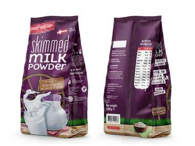 Skimmed Formulated Milk Powder Packaging Design