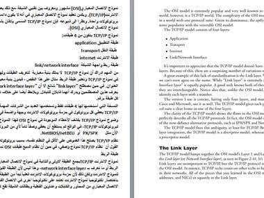 technical translation(English>Arabic)