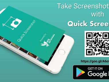 Quick Screenshot capture tool- Mobile apps