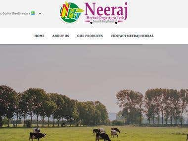 Neeraj-Herbal Orgo Agro Agency website