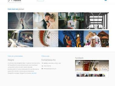 Custom photograph portfolio website