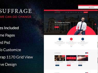 suffrage psd templare design for themeforest