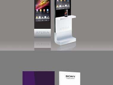 kiosk design for Sony Xperia