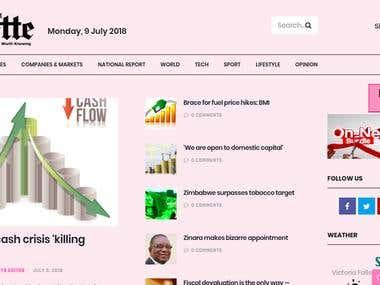 Financial Gazette Website Development