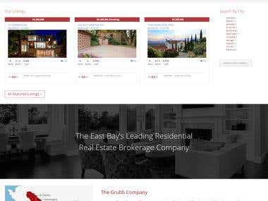 Real Estate Website using wordpress