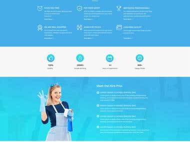 Hire Helper Website Template Design