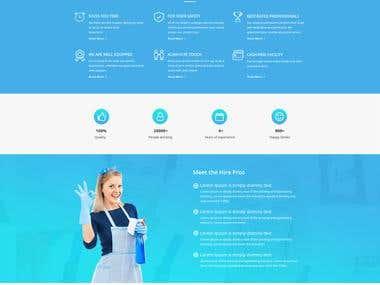 Hire Helper Website Template Design