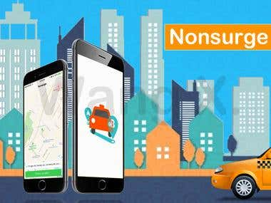 Nonsurge Uber & Lyft Taxi Booking Mobile App