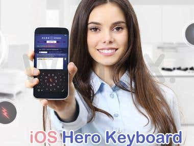 Hero iPhone Keyboard - The world's most efficient keyboard!