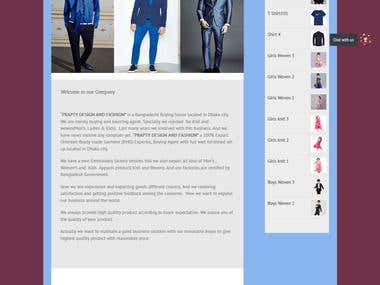 E portal for a reknowned Bangladeshi garment manufacturer