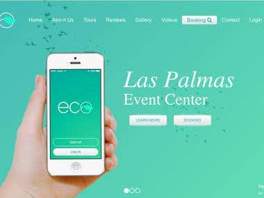 Landing Page for Event Center