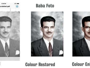 Colour Restoration and Enhancement