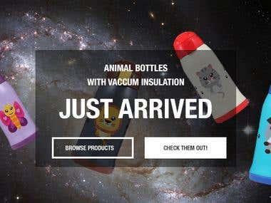 Online Shop Banner: Galaxy