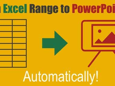 Automate copy graph from excel to power point