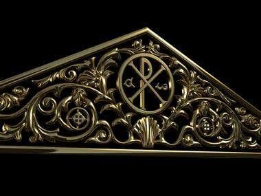 3D cathedral sculpture Model