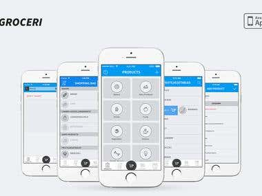Groceri - Shopping list management app for iPhone