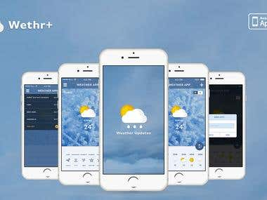 Local city weather app for iPhone