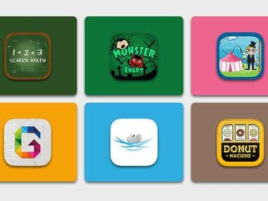 Mobile App icons for iPhone & Android