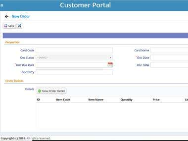 Customer Portal integrate with sap