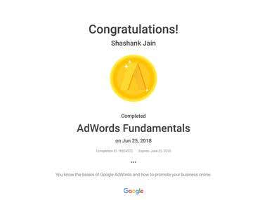 Adwords Fundamentals Certification