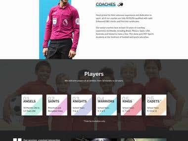 KeySport Academy Landing Page