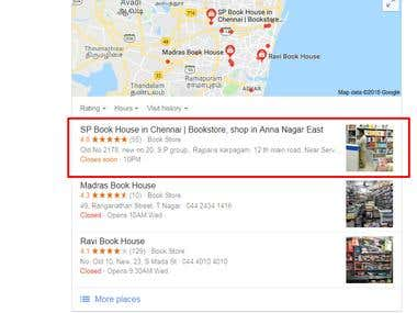 Google Map Listing Optimization and Get Top 3 Ranking