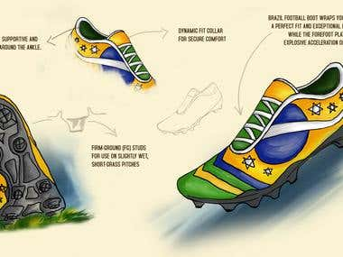 Design a pair of soccer shoes for your favorite player