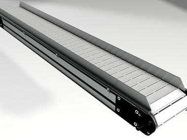 3D model of conveyor belt
