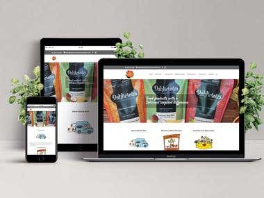 Website design for Delicious foods Austrailia